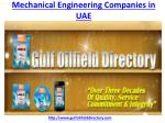 Which is the best Mechanical Engineering Companies in UAE
