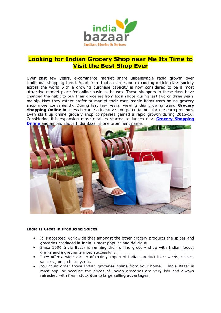 PPT - Looking for Indian Grocery Shop near Me Its Time to