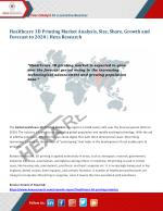 Healthcare 3D Printing Market Analysis, Size, Share, Growth and Forecast to 2020   Hexa Research