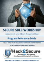Hack2Secure SECURE SDLC Workshop