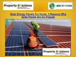 Solar Energy Panels For Home: 3 Reasons Why Solar Panels Are So Popular
