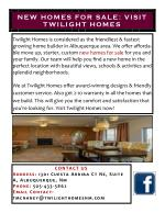 New Homes for Sale: Visit Twilight Homes