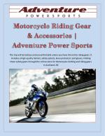 Motorcycle Riding Gear & Accessories | Adventure Power Sports