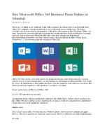 Buy Microsoft Office 365 Business Plans Online in Mumbai