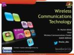 Wireless Communications Technology - R&D