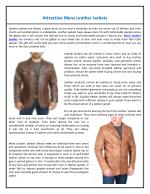 Attractive Mens Leather Jackets