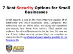 7 Best Security Options for Small Businesses