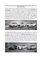 Buy Your Favourite Car From Used Luxury Car Dealers Miami That Offer Best Inventory And Competitive Rates