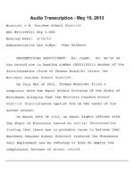 Thomas Woznicki Sworn Testimony (Woznicki vs. Northern Ozaukee S.D.)