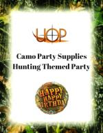 Camo Party Supplies Hunting Themed Party