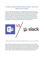 Comparison between Microsoft Teams and Slack – which one is better for your business?
