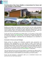 Search A New Home Builders and Their Services in Australia