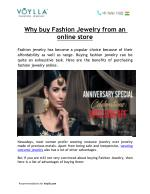 Why buy Fashion Jewelry from an online store