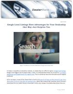Google Local Listings Have Advantages for Your Dealership that May Just Surprise You
