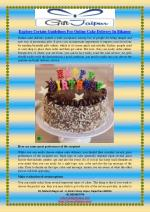 Explore Certain Guidelines For Online Cake Delivery In Bikaner