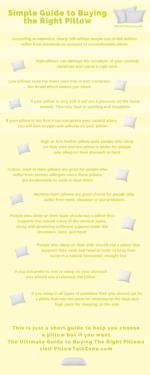 Guide to Buying the Right Pillow