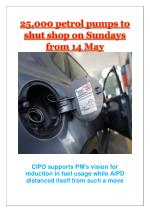 25,000 petrol pumps to shut shop on Sundays from 14 May