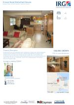 Detached House of Crewe Road with 4 beds/ 3 Baths for sale at Grand Cayman.