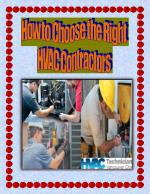 How to Choose the Right HVAC Contractors