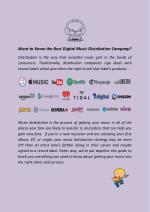 Want to Know the Best Digital Music Distribution Company