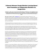 Collavate Releases Google Machine Learning Based Auto-Translation on Collaboration Workflow for Google Drive