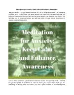 Higher Truth everyone must know on Meditation for anxiety