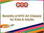 Benefits of NYC Art Classes for Kids & Adults