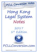 PCLL Conversion Exam Course and Read Contents of Hong Kong Legal System Notes