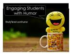 Tips and Tools for Engaging Learners with Humors