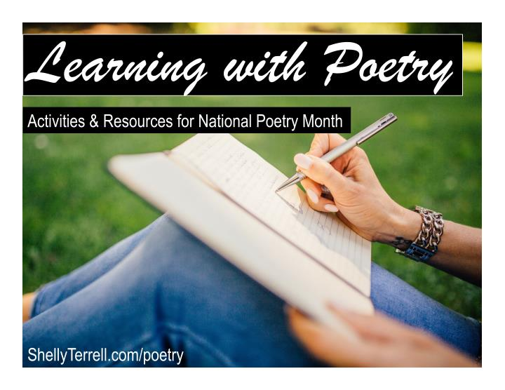learning with poetry activities resources n.