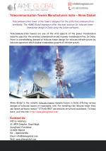 Telecommunication Towers Manufacturers India - Akme Global