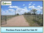Purchase Farm Land For Sale SC