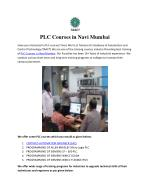 PLC Courses in Navi Mumbai