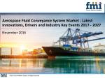 Aerospace Fluid Conveyance System Market : Drivers, Restraints, Opportunities, and Threats (2017 - 2027)