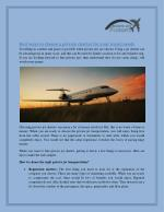 Choose The Best Private Jet Charters : Private Jet Flights