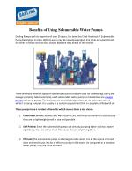 Darling Pumps Offers Wide Range of Submersible Pumps