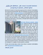 KB One Podium- An avenue towards business prosperity in Greater Noida West