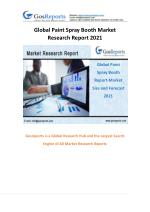Global Paint Spray Booth Market Research Report 2021