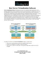 Best Server Virtualization Software
