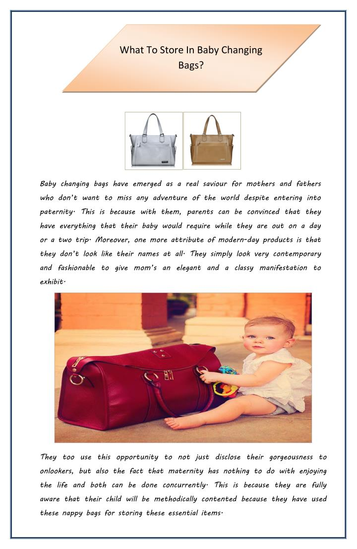 what to store in baby changing bags n.