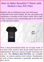 How to Make Beautiful T Shirts with Mothers Day SVG Files