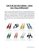 Cat 6 & Cat 6A Cables - How Are They Different?