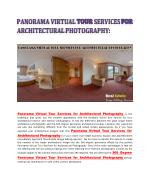 Panorama Virtual Tour Services for Architectural Photography