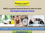 English Speaking Course - BAFEL