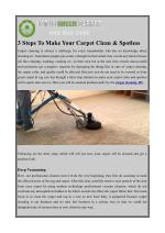3 Steps To Make Your Carpet Clean & Spotless