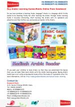 Buy Arabic Learning Games/Books From Goodword