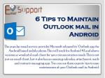 6 Tips to Maintain Outlook mail in Android