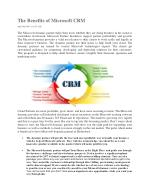 The Benefits of Microsoft CRM