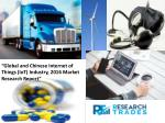 Global And Chinese Internet Of Things (IoT) Industry Markets Expected To Gain Popularity Worldwide