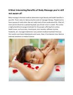 Body to Body Massage in Delhi Price